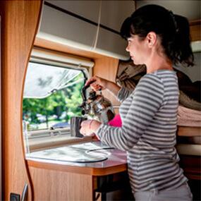Cuisine location camping car