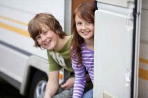 Enfants dans camping car - EVAGO Location camping car